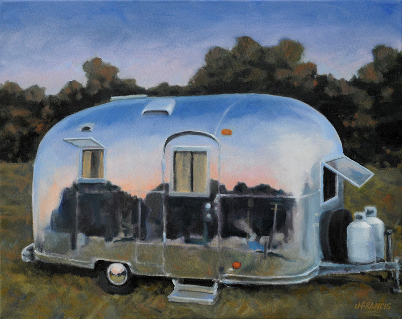 "Airstream at Dusk (5"" x 7"") - Jon Francis"