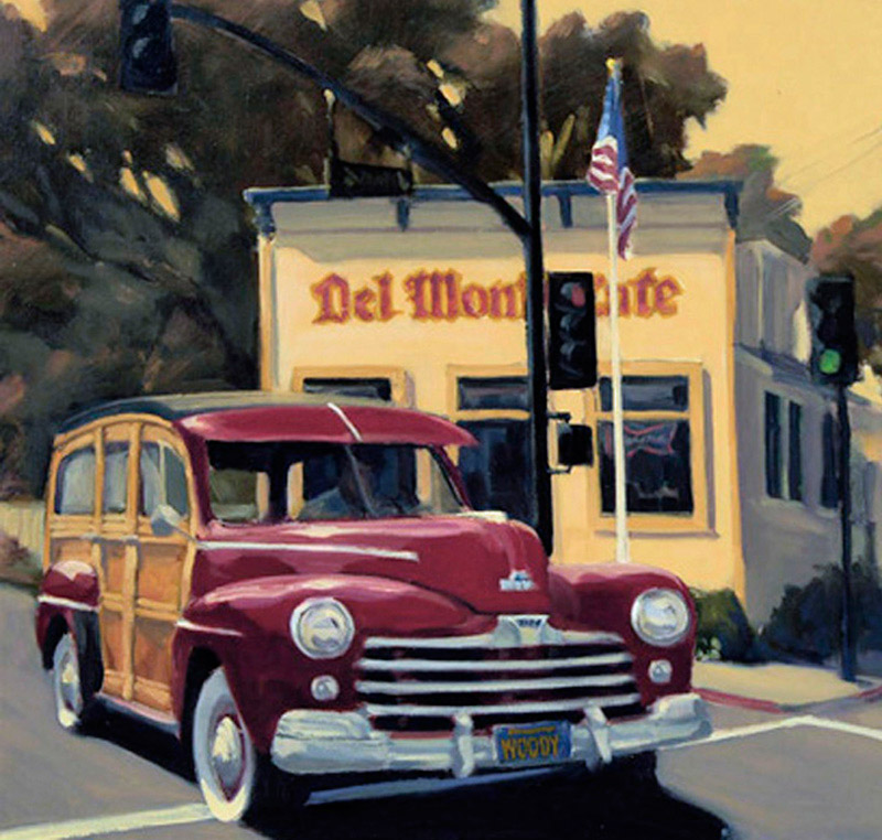 "Del Monte Cafe (6"" x 6"") - Jon Francis"