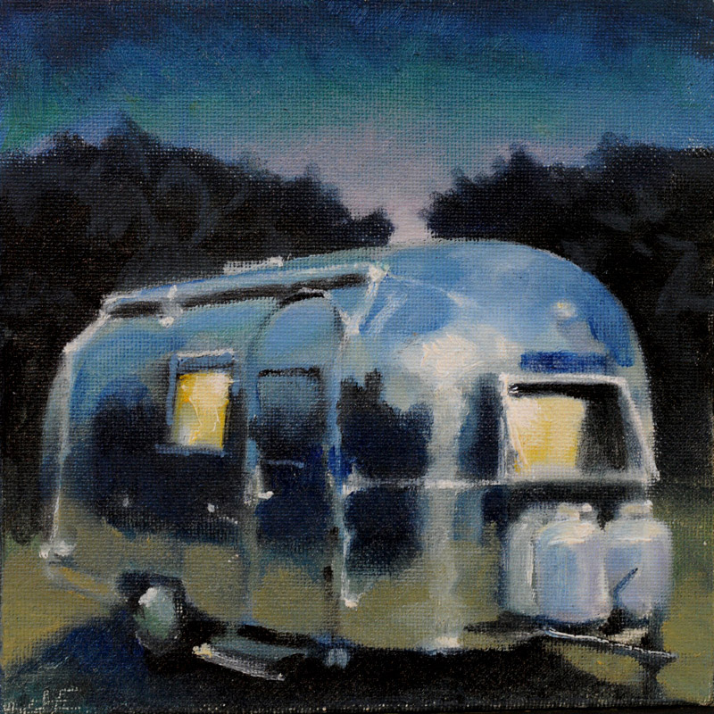 "In for a Cozy Night (6"" x 6"") - Jon Francis"